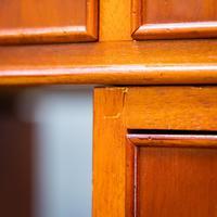 Yew Wood Effect Pedestal Desk (9 of 9)