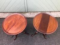 Pair of Antique Mahogany Tripod Wine Tables (6 of 8)
