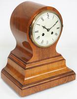 Impressive Solid Walnut Drum Head Striking Mantel Clock PHS Mantle Clock (9 of 12)