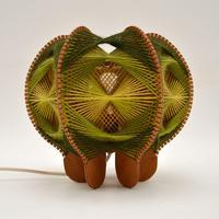 Vintage Spun Wool Pendant / Table Lamp (2 of 6)