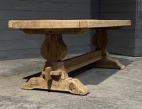 Large Rustic French Bleached Oak Farmhouse Dining Table (17 of 40)