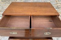 Antique Military Campaign Teak Chest of Drawers (17 of 21)
