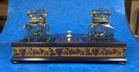 Victorian Rosewood & Tunbridge Ware Inkstand by Thomas Barton (20 of 24)