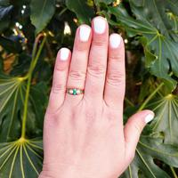 Antique Victorian 15ct Gold Turquoise & Pearl Ring (3 of 9)