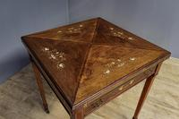 Late Victorian Envelope Card Table (7 of 9)