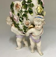 Antique Volkstedt Porcelain Vase c.1875 (3 of 6)