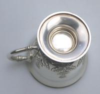 Fine & Rare Scottish Solid Silver Small Tankard by Hamilton & Inches c.1922 (8 of 9)