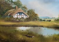 Lovely 'Chocolate Box Quality' Vintage 20thc English Landscape Oil Painting (15 of 15)