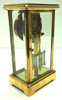 Fine Antique French Table Regulator with Visible Pendulum 8 Day 4 Glass Mantel Clock (5 of 10)