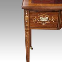Edwardian Inlaid Rosewood Desk (4 of 11)