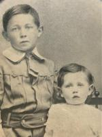 Enchanting Original Show-framed 19th Century Double Portrait Photograph of 2 Siblings (5 of 11)