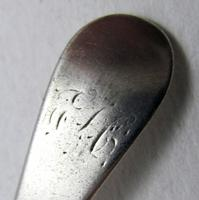 Antique George III (1799) Solid Sterling Silver Tea/Coffee Spoon, 18th-Century English Hallmarked. (4 of 5)