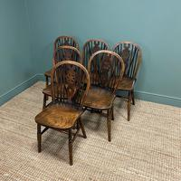 Six Country House Kitchen Elm Antique Windsor Chairs (5 of 6)