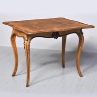 French Victorian Yew & Rosewood Fold-over Card Table / Games Table (7 of 11)