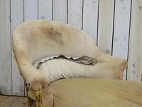 Antique French Chaise Longue Day Bed for re-upholstery (6 of 8)