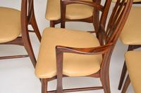 1960's Danish  Rosewood &  Leather Dining Chairs by Niels Kofoed (10 of 12)