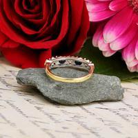 The Vintage 1979 Sapphire & Diamond Half Hoop Ring (5 of 5)
