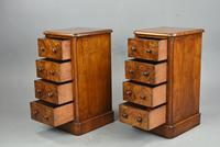 Pair of Victorian Burr Walnut Bedside Chests of Drawers (3 of 5)