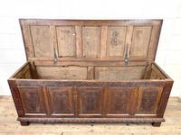 Huge 18th Century Carved Oak Coffer (5 of 9)