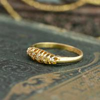 The Antique 1921 Old Cut Five Diamond Ring (8 of 8)