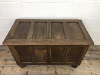 Vintage Oak Panel Blanket Box or Coffer Chest (3 of 15)