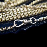 Antique Victorian 9ct 9K Gold Belcher Guard Muff Chain Necklace (7 of 9)