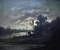 R T Stuart c1870 French Barbizon School Landscape Oil Painting (2 of 8)