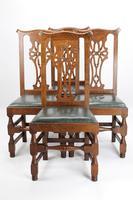 Set 4 Edwardian Arts & Crafts Oak Dining Chairs (12 of 13)