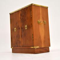 Antique Military Campaign Style Yew Wood Miniature Cabinet (2 of 7)
