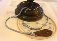 Vintage Pocket Watch Chain 1970s Long Chrome Snake Link With Leather Button Fob (2 of 11)