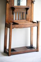 Early 20th Century Oak Hall Stand (6 of 12)