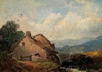Joseph Horlor Small Original 19th Century Welsh Landscape Oil Painting (7 of 12)