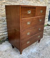 Antique Military Campaign Teak Chest of Drawers (4 of 21)