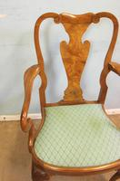 Set of Eight Queen Anne Style Walnut Dining Chairs (7 of 15)