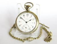 Antique 1917 Zenith Pocket Watch & Chain