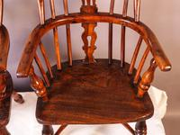 A Near Pair of Childs Yew Wood Windsor chairs (10 of 14)
