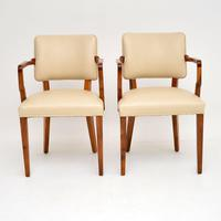 Pair of Vintage Art Deco Walnut Armchairs (5 of 9)