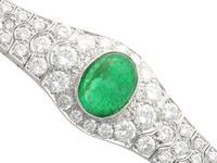 37.17ct Emerald & 6.55ct Diamond, 18ct White Gold Jewellery Set - Antique French c.1925 (13 of 23)