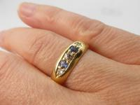 Edwardian 18ct Gold Diamond & Sapphire Ring (4 of 6)