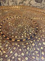 Early 20th Century Brass Inlaid Hoshiarpur Table (6 of 7)