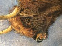 Victorian Scottish Highland Painting of Cattle by Aster Richard Chilton Corbould (33 of 40)