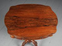 Victorian Rosewood Work Table / Occasional Table (4 of 9)