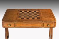 Regency Period Maple & Burr Maple Games Table (4 of 5)