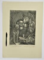 William Hogath original print, The Bruiser, engraved 1763, early 19th century impression (2 of 8)