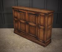 Solid Oak Linenfold Cabinet (3 of 9)