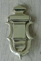 Genuine Victorian Brass Door Knocker & Bolts 7.25 Inches (2 of 5)
