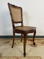 Vintage French Louis Style Set Of 6 Cherry Wood Bergère Cane Dining Chairs (9 of 10)