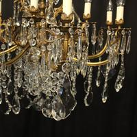 French 12 Light Gilded Bronze Antique Chandelier (2 of 10)