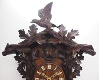 Antique Carved Early Cuckoo Clock Weight Driven Visible Pendulum (12 of 14)