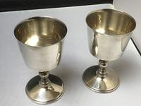 Excellent Pair of Solid Silver Goblets (5 of 6)